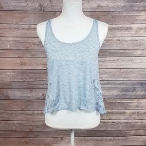 Anthro/love on a hanger blue/gray Lacey Tank